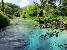 Clear water bubbles forth from limestone karst formations at the Blue Eye Spring between Gjikokaster and Saranda, Albania. Albania, Palermo, Coastal, Bubbles, River, Eyes, Spring, Blue, Outdoor