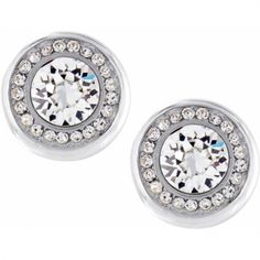 Versailles Versailles Suisses Post Earrings Channel-set Swarovski crystals surround a bold center crystal for the look of fine jewelry. Brighton