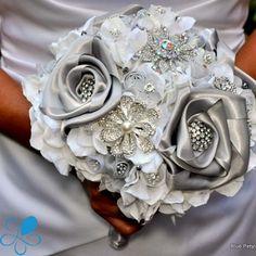 Couture silver roses bridal bouquet Keywords: #bridalbouquetsforsilverthemedwedding #jevelweddingplanning Follow Us: www.jevelweddingplanning.com  www.facebook.com/jevelweddingplanning/
