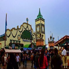 Oktoberfest - Munich Germany ---------------------------------------------- This is one of the 14 beer halls on the Oktoberfest fairgrounds. Oktoberfest in Munich also has carnival rides similar to a state fair with over 80 rides including a ferris wheels #Munich #Germany #Oktoberfest