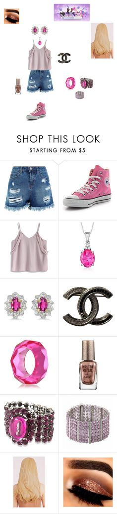 """""""look de star butterfly light"""" by miliorobb on Polyvore featuring Converse, Chicwish, Ross-Simons, BillyTheTree, Chanel, Kenneth Jay Lane, Barry M and Miu Miu"""