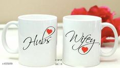 Cups, Mugs & Saucers Coffee Mug For Couples gifts and personal use, ceramic mug set of 2 Material: Ceramic Pack: Pack of 2 Country of Origin: India Sizes Available: Free Size   Catalog Rating: ★4.3 (2031)  Catalog Name: Trendy Coffee Mugs & Gifts CatalogID_1013227 C190-SC2066 Code: 672-6372659-585