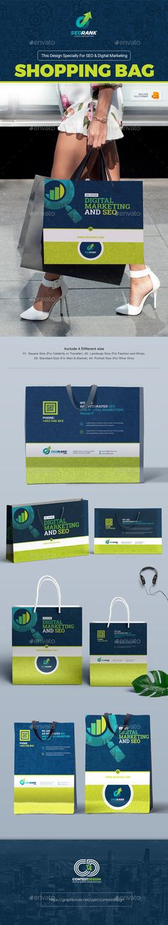 Shopping Bag Packaging for SEO (Search Engine Optimization) & Digital Marketing Agency / Company