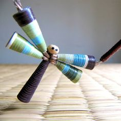 paper bead dragonfly.