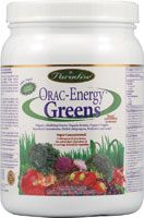 One of the most important supplements I take each day.  Most foods are acidic. This adds an alkalizing effect to meals - especially important if they contain protein but not veggies.  An acidic pH invites disease.  This powder has a bunch of goodies, all organic. One serving provides the antioxidant equivalent of 24 servings of the fruits and veggies with the most  antioxidant power.  Doesn't taste great but you can deal, especially if mixed with a protein shake.