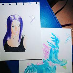 Belajar pakai pensil warna perempuan berambut ungu & Leshrac the malicious #coloredpencil #worldofpencil #art  #artnerd #artgram #arts_help #illustration #illustrator #face #leshrac ##girl #dota2 #gaming #dota2id #dota2indonesia #indonesia #surabaya #color #practice #dailypractice #artistofinstagram #talentedpeopleinc #creative by adambelulang