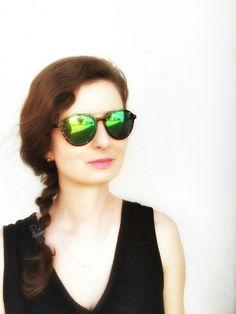 G-Sevenstars México Moon H2 with Green Mirror Lenses. Italian handmade sunglasses with Mazzucchelli acetate