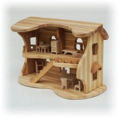 деревянный кукольный домик #woodworkingideas