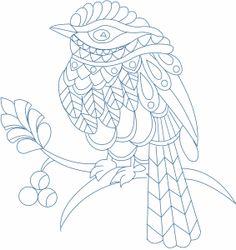 Diseño Zentangle Aves