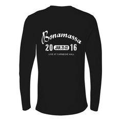 An Evening at Carnegie Hall Long Sleeve (Men) ***PRE-ORDER***