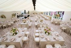 We installed a stunning pealight canopy, tack-off lining and wood-effect flooring to give the marquee a luxurious finish.