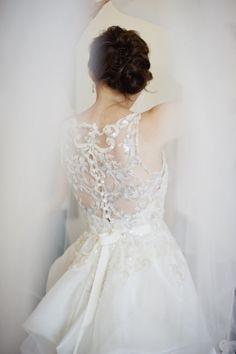 gorgeous #wedding dress back detail