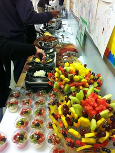 Breakfast for the teachers at Church Hill Elementary