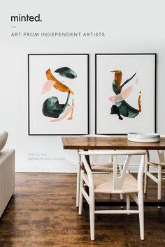 Abstract Wall Art, Art Decor, Home Decor, Diy Art, Home Art, Fine Art Prints, Gallery Wall, Loft Design, Crafty