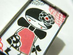 Girl Brooch  www.lintu-nakit.si  FB: Lintu Nakit