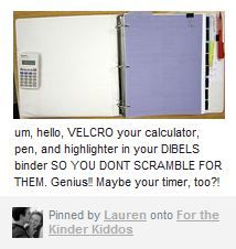 GREAT idea to keeping track of your supplies...VELCRO!