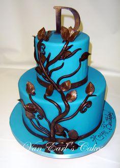 BLUE BIRTHDAY CAKES FOR WOMEN Happy Birthday Cake Designs - Blue cake birthday