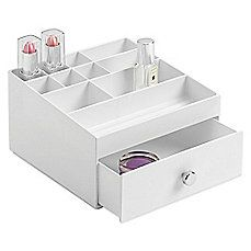 image of InterDesign® 1-Drawer Cosmetic Organizer in White