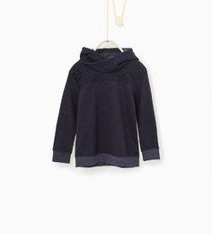 Image 1 of Contrasting details sweatshirt from Zara