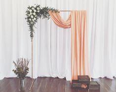 Wedding Backdrop/ Backdrop Stand/ Ceremony Backdrop/ Summer Wedding/ Gold Wedding/ copper backdrop stand - when we say I do - Hochzeit Wedding Ceremony Ideas, Diy Wedding Backdrop, Flower Backdrop, Wedding Centerpieces, Wedding Decorations, Arch Wedding, Wedding Aisles, Wedding Ceremonies, Photo Booth Wedding