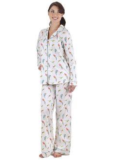 1046a1a1757f Leisureland Women s Tattoo Pattern Flannel Pajamas