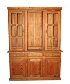 Yellow pine hutch