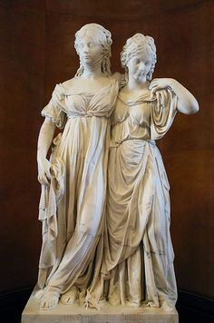 Double Statue of the Princesses Luise and Friederike of Prussia. 1795-1797. Johann Gottfried Schadow. Alte Nationalgalerie. Berlin