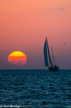 Put a fishing pole in my hand and send me out on a boat like this all day.  :-)  Sunset - Key West, Florida