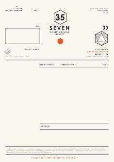 Self promotion { Graphic Designer } on Behance in Invoice