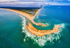 """New island appears off the coast of North Carolina near Cape Hatteras called """"Shelley Isalnd"""" created by the currents. The island could easily be gone by next year. Outer Banks North Carolina, North Carolina Islands, North Carolina Coast, Outer Banks Nc, East Coast, Carolina Beach, Carolina Do Norte, Costa, Bermuda Triangle"""