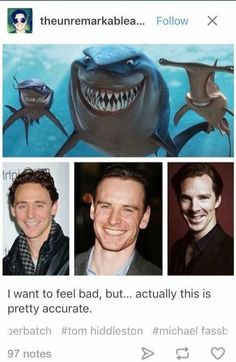 Tom Hiddleston, Michael Fassbender, & Benedict Cumberbatch