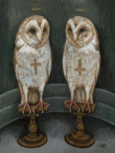 Sacred Anomaly 2012 - Acrylic on Wood Kristin Forbes-Mullane