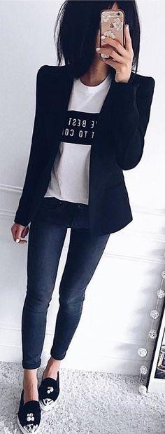 #winter #outfits black blazer