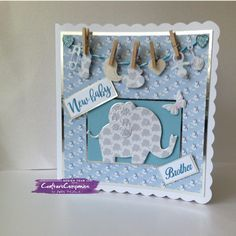 Card made using Sara Signature Little Angel Collection - Designed by Julie Woolston #crafterscompanion