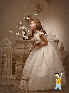 Vestido niña primera comunión. Ideas fotografías originales comunión niña. Girl Photography, Children Photography, First Communion Dresses, Diana, Junior, Birthday Dresses, Beautiful Children, Flower Girl Dresses, Bright