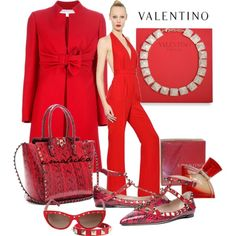 """Lady in red - all about Valentino"" by eva-malecka on Polyvore"