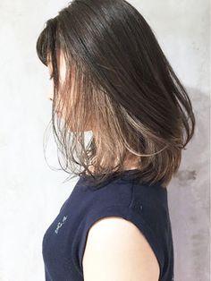 ALBUM HARAJUKU_S【アルバム ハラジュク エス】ワンサイドくびれミディインナーカラーボブ_ba46925