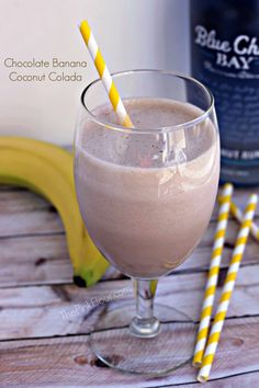 Chocolate Banana Coconut Colada for adults