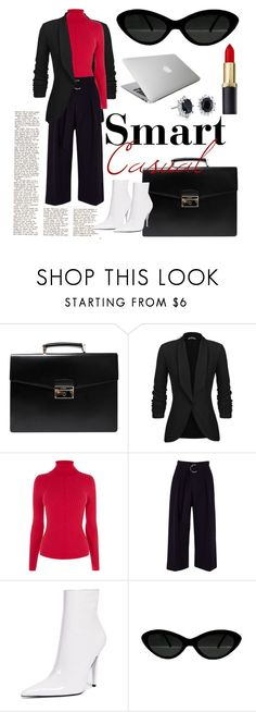 """""""Smart Casual"""" by rock-my-hillbilly ❤ liked on Polyvore featuring Prada, Karen Millen, River Island, Jeffrey Campbell and Blue Nile"""