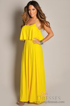 Yellow Maxi Dress | Gommap Blog