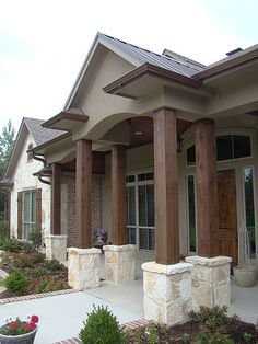 A perfect blending of traditional and modern design, complemented with Texas limestone. Design by Trent Williams Construction Management in Tyler.