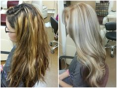 (L) Before. (R) After #hairbymarieberdugo