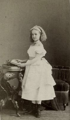 Princess Amelie d´Orleans, later Queen of Portugal. 1870s.