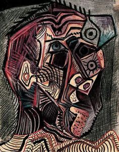 Pablo Picasso: Self-portrait Facing Death ~ Pallimed: Arts and Humanities Pablo Picasso, Kunst Picasso, Art Picasso, Picasso Drawing, Picasso Paintings, Picasso Self Portrait, Self Portraits, Georges Braque, Art Moderne