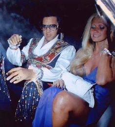 Elvis Presley and friend 1970's.