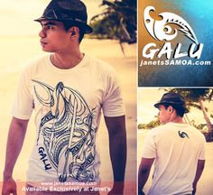 Janet's - Galu T-Shirt - Paddles White, 59.80 WST (http://www.janetssamoa.com/galu-t-shirt-paddles-white/)  GALU Samoa Paddle T-Shirt White: The Design pays tribute to the skill and ingenuity of our Pacific Islanders as the first Deep Blue Water Voyagers in the World. The Paddle is designed after the first Paddles of the Lapita people and the symbol of the Pacific people's harmony with the elements.