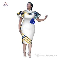 2018 Customized African Print Clothing Ruffle Sleeve Knee Dress Summer Women Party Dresses Plus Size African Clothing Latest African Fashion Dresses, African Dresses For Women, Party Dresses For Women, African Attire For Ladies, African Dress Designs, African Print Clothing, African Print Fashion, African Women Fashion, Africa Fashion