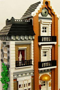 Lego MOC Music Teacher's Town Home 4 by zaberca, via Flickr