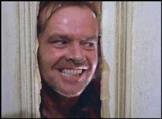 Jack Nicholson como Jack Torrance.Resplandor.1980