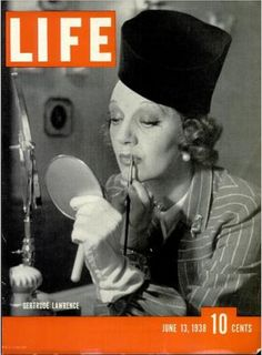 Life Magazine Cover Jun 13, 1938 - Gertrude Lawrence
